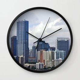 Miami City Skyline Wall Clock