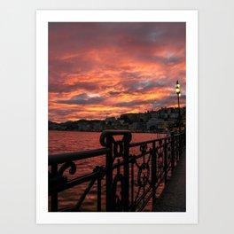 Romantic Sunset View Art Print