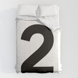 Number 2 (Black & White) Comforters
