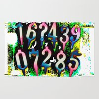 numbers Area & Throw Rugs featuring Numbers! by gasponce