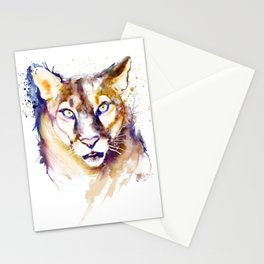 Mountain Lion Head Stationery Cards