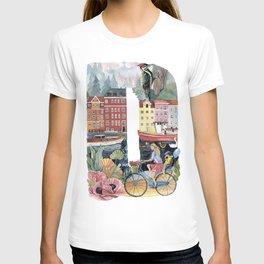 letter D dutch style T-shirt