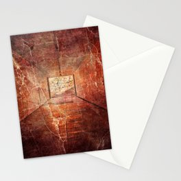 Abstract infernal light source design Stationery Cards