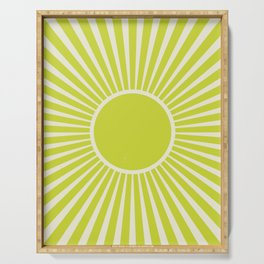 Chartreuse sun Serving Tray