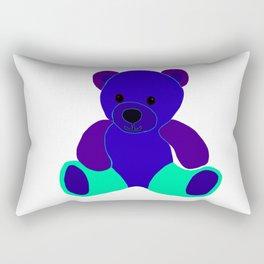Blue Green Purple Teddy Bear Rectangular Pillow