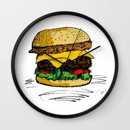 Tasty Hamburger od Awesomnes Wall Clock