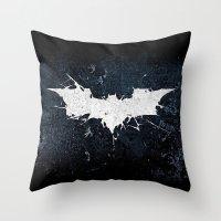 bat man Throw Pillows featuring BAT MAN by Thorin