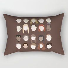 the office minimalist poster Rectangular Pillow