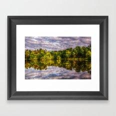 Mirroring the sky Framed Art Print