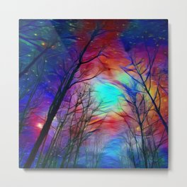 Lights over the Forest Metal Print