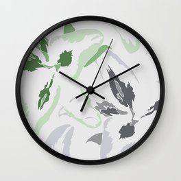 FLORAL ABSTRACTION 2 Wall Clock