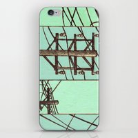 springsteen iPhone & iPod Skins featuring Nebraska Power Lines by Mighty Lark