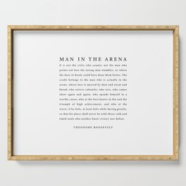 The Man In The Arena, Theodore Roosevelt Serving Tray