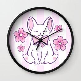Sakura Cat 02 Wall Clock