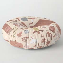 Gone Camping Floor Pillow