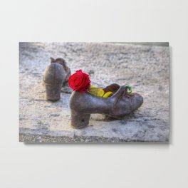 Shoes On The Danube Metal Print