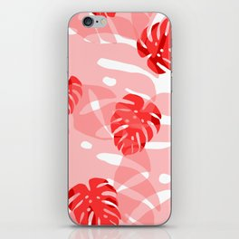 red monstera iPhone Skin
