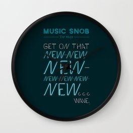 The NEW-New Wave — Music Snob Tip #629 Wall Clock