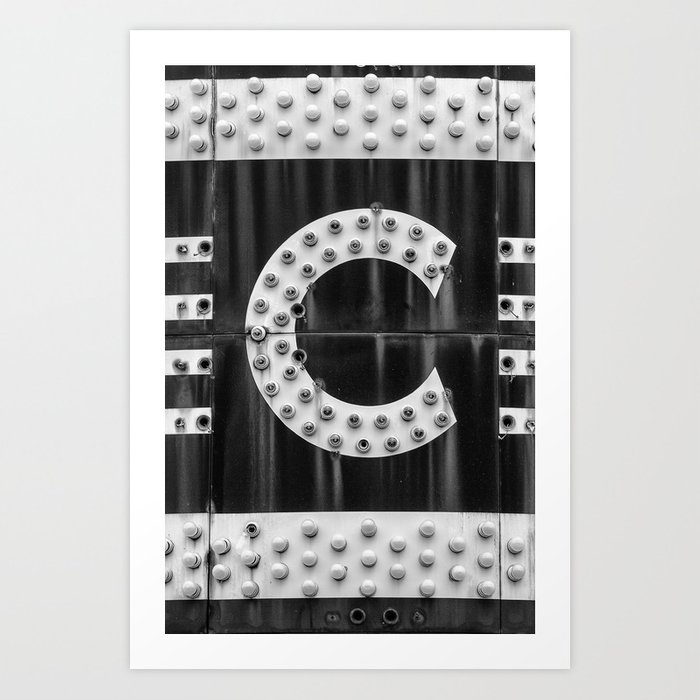 Big C Letter From Old Movie Theater Marquee Art Print By Keith Dotson Society6