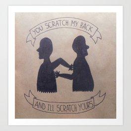 Back-scratching Art Print