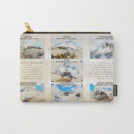 7 Summits, the worlds highest mountains Carry-All Pouch