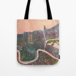 A Map of Vibrant New Orleans Tote Bag