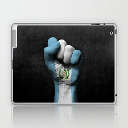 Guatemalan Flag on a Raised Clenched Fist Laptop & iPad Skin