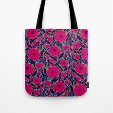 Layered Leaf Floral Fuchsia Tote Bag