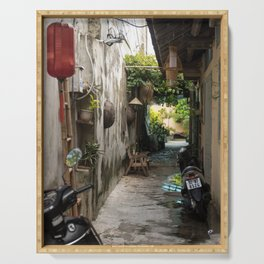 Backstreets, Hoi An, Vietnam Alleyway Serving Tray