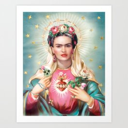 Saint Frida Kahlo Art Print