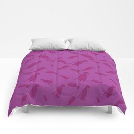 PINK WEIMARANERS SITTING Comforters