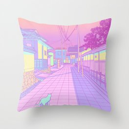 Kyoto Cats Throw Pillow
