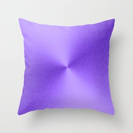 Shiny Purple Faux Stainless Steel Throw Pillow
