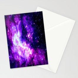 Purple Galaxy : Celestial Fireworks Stationery Cards