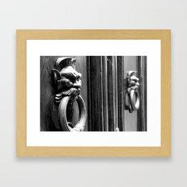 Knockin' at the Door Framed Art Print
