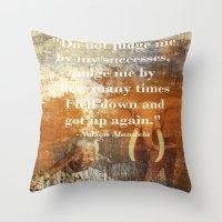 mandela Throw Pillows featuring Mandela 2 by Shalisa Photography