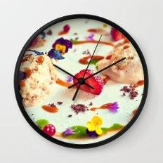 Peach tiramisu :) Wall Clock