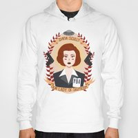 wallet Hoodies featuring Dana Scully by heymonster