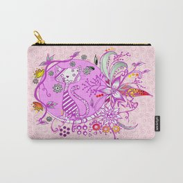 Pen and Ink Colorful Cat Drawing for girls Carry-All Pouch