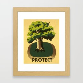 Protect greenery Framed Art Print