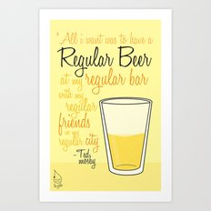 Tv drink quotes [how i met your mother] Art Print