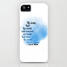 Immoral Books | Oscar Wilde iPhone Case