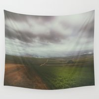 wanderlust Wall Tapestries featuring Wanderlust by SpaceFrogDesigns
