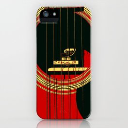 Guitar Sound Hole iPhone Case