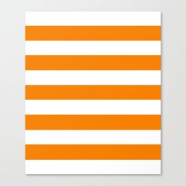 University of Tennessee Orange - solid color - white stripes pattern Canvas Print
