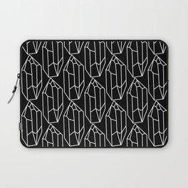 Black Crystal Pattern Laptop Sleeve