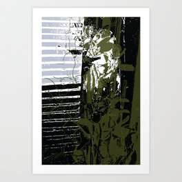 Behind the jade curtain Art Print