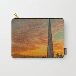 Nature Sculpture & Sunset Carry-All Pouch