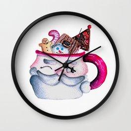 Santa Candy Cup Wall Clock
