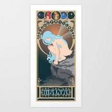 Malta Nouveau -  Sea Prince and the Fire Child Art Print